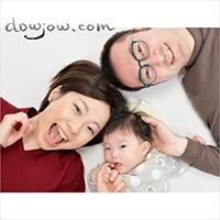 普段着のご家族写真